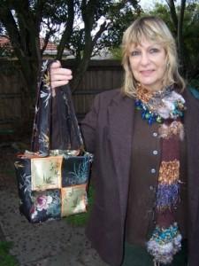 Angela and her Kimono Bag