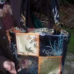 Angelas Chinese brocade kimono bag