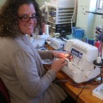 Jackie with her Elna 824 overlocker