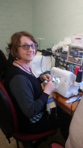 Susie with her Babylock overlocker