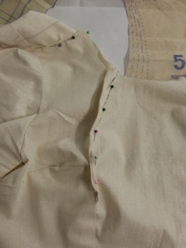 the pinned areas must be marked onto the calico