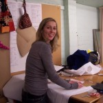 rachael at her pattern making classes