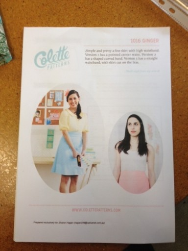 """Collette Skirt Pattern - """" Ginger """""""
