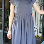 Vintage Knit Dress -Dove Grey