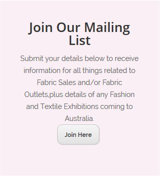 Join Our Fabric Alert Today.