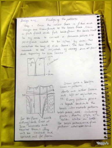 Page 2 of my notes detailing my pattern making process.Page 2 of my notes detailing my pattern making process.