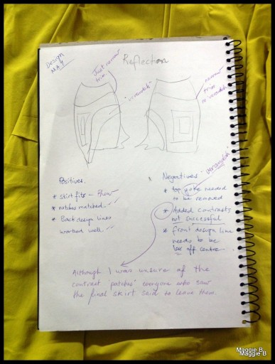 Page 4 of my notes detailing my pattern making process.Page 4 of my notes detailing my pattern making process.