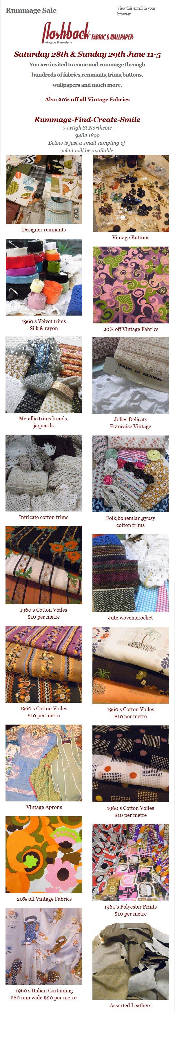 Vintage Fabric Sale