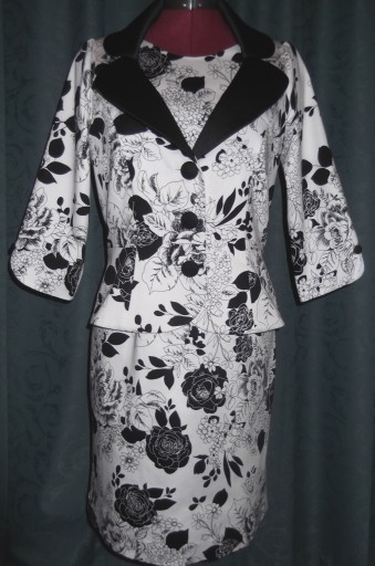 Jacket with print dress 1