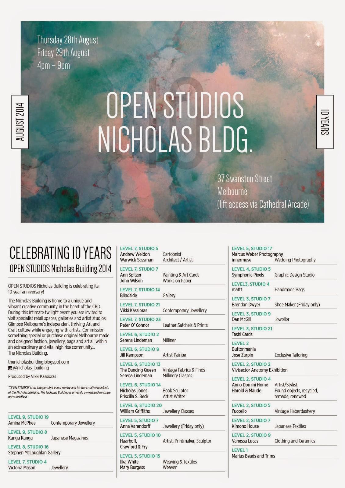 open studios nicholas building