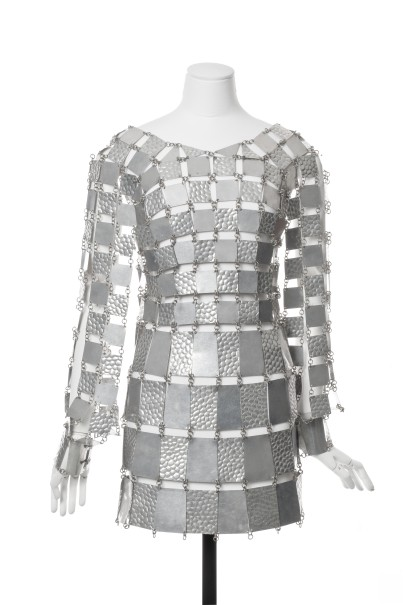 PacoRabanne, Spring-Summer 1968, from the collection of Musée des Arts Décoratifs, Paris.Photo: Jean Tholance - Les Arts Décoratifs.