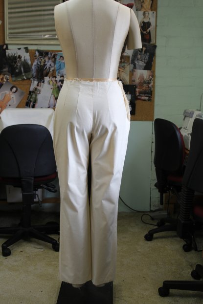 Back view of the English Pants Block