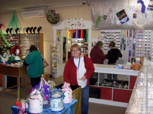 Mo H loves fabric shopping.