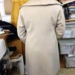 full view of back of Helens coat